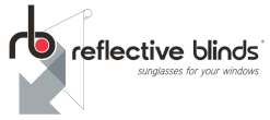 Reflective Blinds: sun, heat & glare issue reducing window blinds Logo